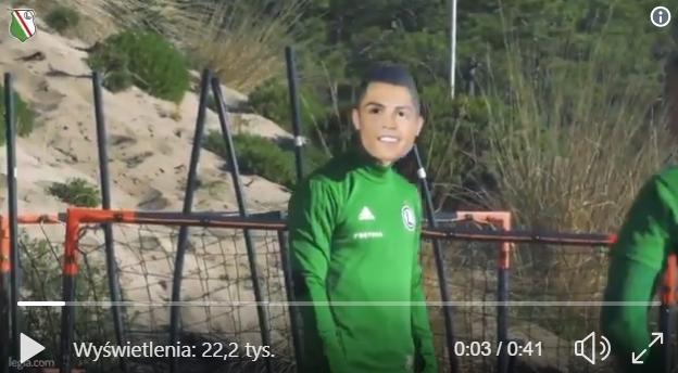 Cristiano Ronaldo na treningu Legii